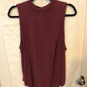 American Eagle red suede tank top